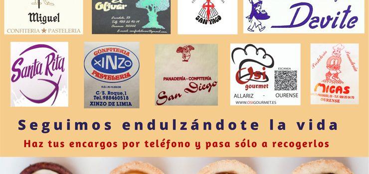 Pastelerías de la Asociación provincial permanecen abiertas para endulzar esta Semana Santa a los ourensanos