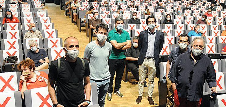 Os socios da UD Ourense esquivan a fusión