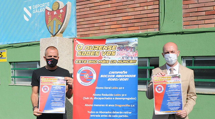 A UD Ourense presenta unha campaña acorde ás circunstancias