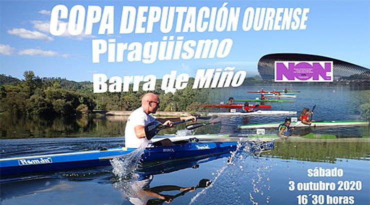 A Copa Deputación de piragüismo celebra a súa segunda regara en Barra de Miño