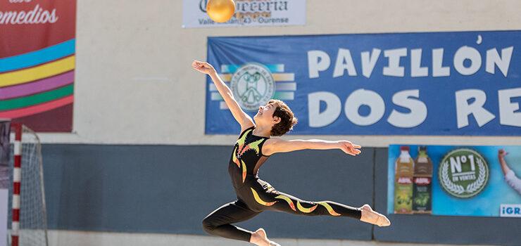 Cuatro gimnastas ourensanos en la fase autonómica de gimnasia rítmica