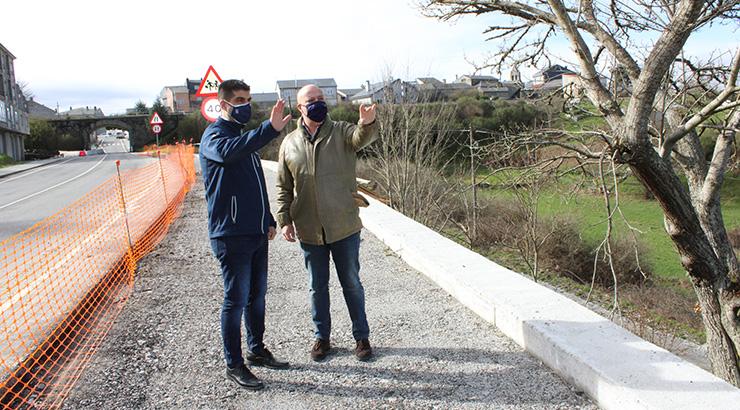Unha senda peonil facilita o acceso ao AVE na Gudiña