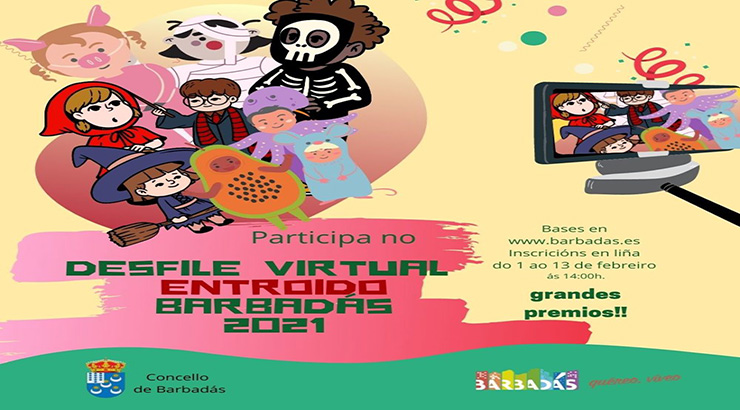 Barbadás celebrará o Desfile do Entroido en formato virtual
