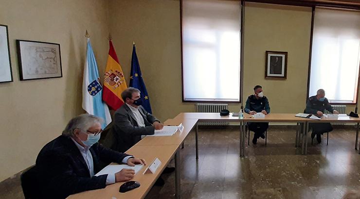 O subdelegado do Goberno destaca o incremento da actividade da Garda Civil en canto ao número de investigados no concello de Xinzo de Limia