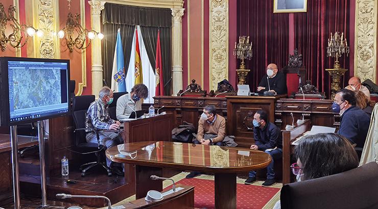 Límites entre os concellos de Ourense e de San Cibrao das Viñas