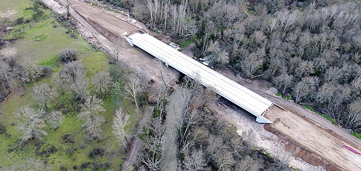 Remata a construción da nova ponte situada en Queizás