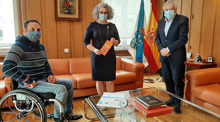 O Subdelegado do Goberno recibe a representantes da Asociación Por Eles TEA Ourense
