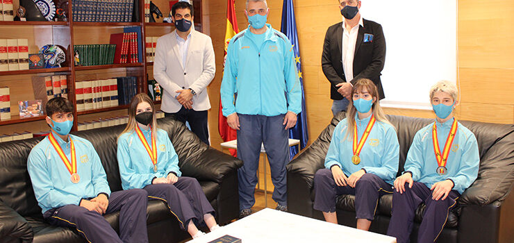 Recibimento aos gañadores da Copa de España de taekwondo