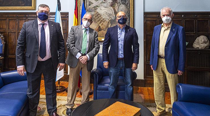 Baltar recibe ao presidente do Banco de Alimentos de Ourense
