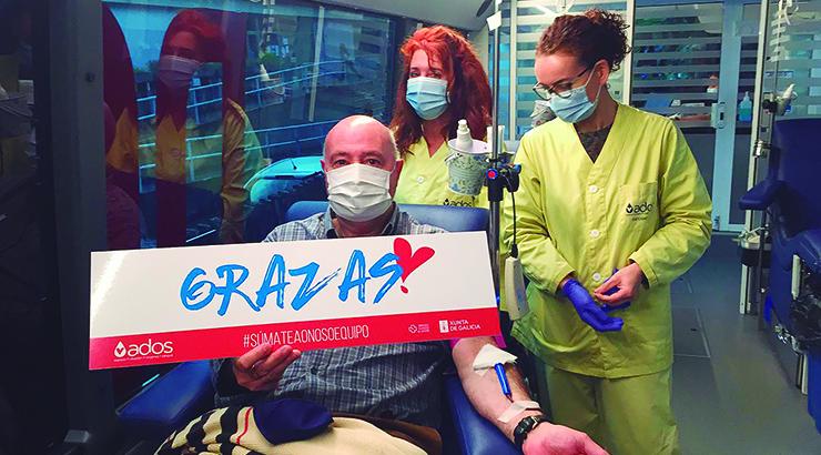 «Súmate ao noso equipo» é a campaña especial de ADOS para doar sangue este verán