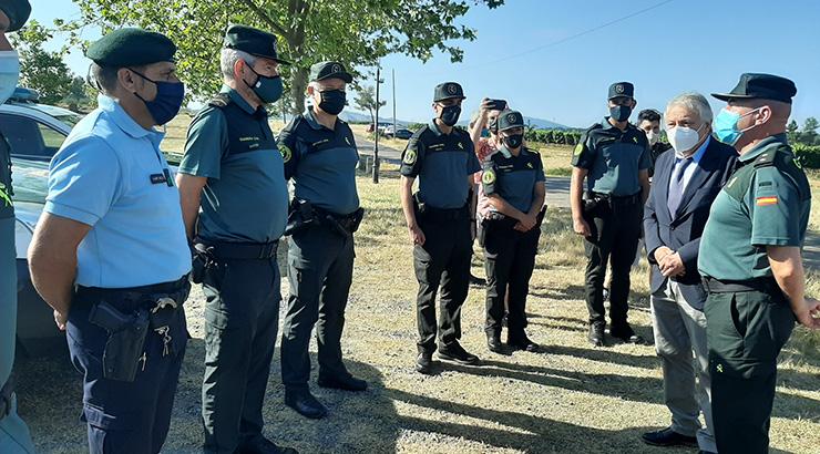O Subdelegado do Goberno en Ourense visita o dispositivo de seguridade da Garda Civil